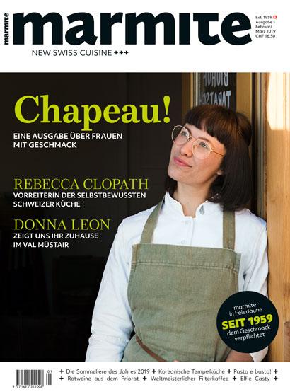 Marmite magazine cover März / April 2019