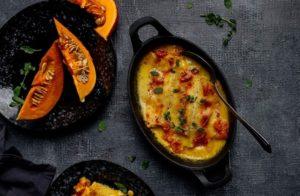 Kürbis-Cannelloni mit Ricotta und Burrata